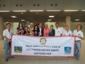 Ankunft der Schweizer Delegation am Flughafen in Bangkok